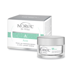 Norel HOME - Acne - Anti-Imperfection Cream With LHA And Silver Ions (Krem na niedoskonałości z LHA i jonami srebra) 50ml 5902194142557 DK 134