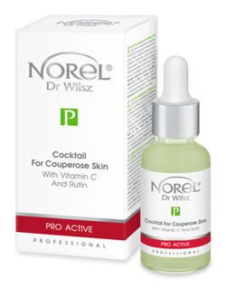 Norel - PRO ACTIVE - Cocktail For Couperose Skin With Vitamin C And Rutin (Koktajl dla cer naczyniowych z witaminą C i rutyną) 30ml 1192 PA 377