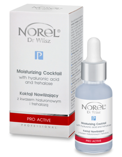Norel - PRO ACTIVE - Moisturizing Cocktail With Hyaluronic Acid And Trehalose (Koktajl nawilżający z kwasem hialuronowym i trehalozą) 30ml 1222 PA 375