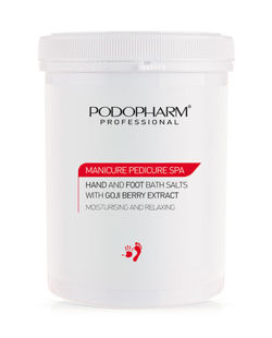Podopharm PRO - MANICURE PEDICURE SPA HAND AND FOOT BATH SALTS WITH GOJI BERRY EXTRACT (Sól do kąpieli dłoni i stóp z ekstraktem z goji) 1400g 1006